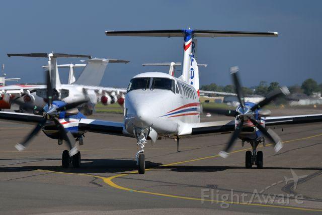Beechcraft Super King Air 300 (VH-MQD) - Stunning 5-blade propellers. January 5, 2021