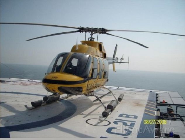 Bell 407 (N407PH) - Offshore, hard at work.  Mississippi Canyon 21.