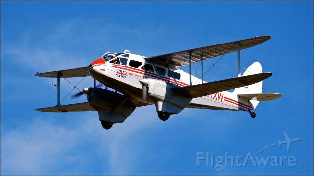 De Havilland Dragon Rapide (N683DH) - Historic Flight Foundations DeHavilland DH-89A Mk IV Dominie/Dragon Rapide (C/N 6782) inflight on 7.21.18.