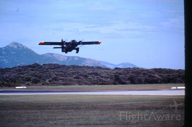 GAF Searchmaster (A18312) - Australian Army Nomad departing RWY32 Flinders Island circa 1980