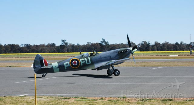 """TB863 — - Used in movie """"Reach for the Sky"""", 1955 This photo taken at Temora 2012."""