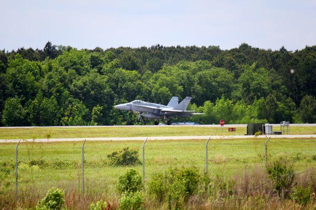 VMFA312 — - United States Marine Corps F/A-18C Hornet landing in Savannah Ga.