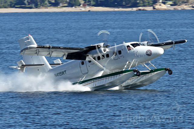 De Havilland Canada Twin Otter (N415WT) - Shot was taken from West Shore Drive at Canyon Ferry Lake, Montana.