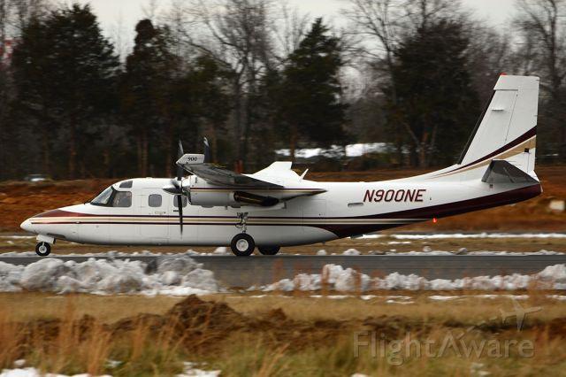 Rockwell Turbo Commander 690 (N900NE) - A sharp looking Commander 900 departing Batesville. January 2013.