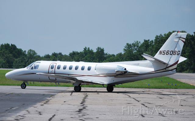 Cessna Citation V (N560BG) - TAxiing to runway 28 - 6/18/09