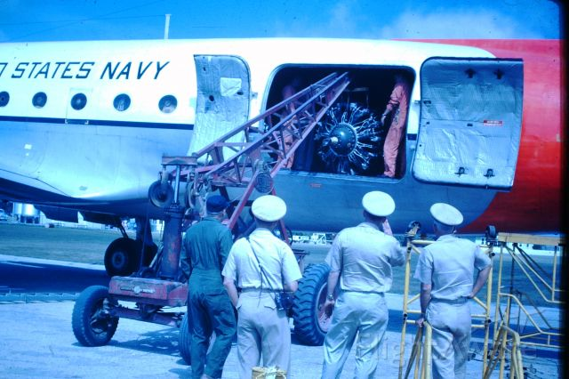 Douglas C-54 Skymaster (50-8857) - US Navy C54 from the Phillipines at Flinders Island, circa 1964