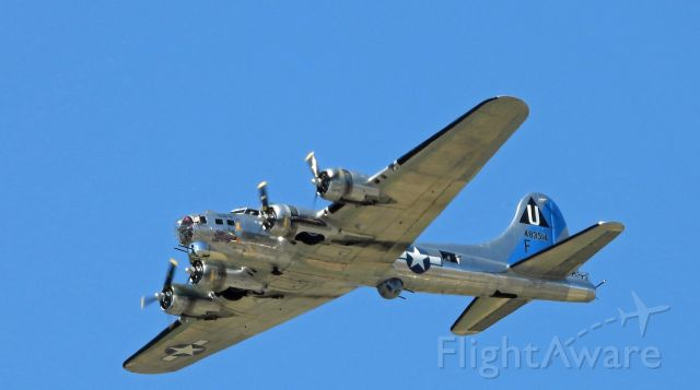 Boeing B-17 Flying Fortress (N9323Z) - Flying over Carson City on flight out of Minden-Tahoe airport