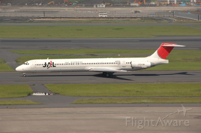 McDonnell Douglas MD-81 (BON8556) - Taxi at Haneda Intl Airport on 2008/6/1 JAL c/s
