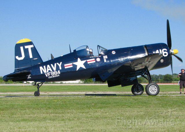 VOUGHT-SIKORSKY V-166 Corsair (N713JT) - AirVenture 2016. 1945 Vought F4U-4B Corsair