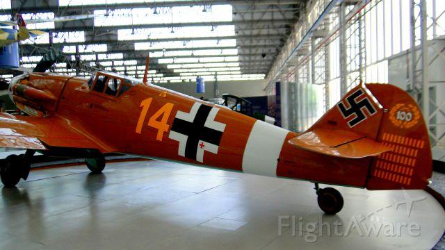 MESSERSCHMITT Bf-109 — - Original model of Messerschmitt BF 109 in São Carlos-SP, Brazil. Utilized by Germany in Second War.