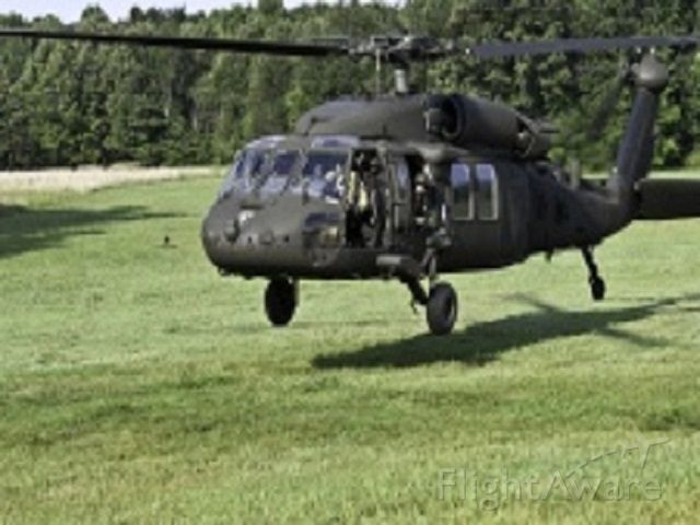 ARMY — -  UH-60 Blackhawk helicopter assigned to 6-101 GSAB lifts off from a field site.