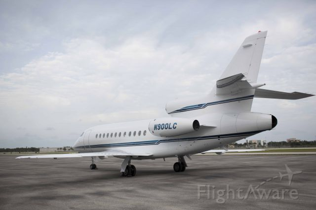 Dassault Falcon 900 (N900LC) - N900LC on charter from Boca Raton Airport for Airstrem Jets Inc.