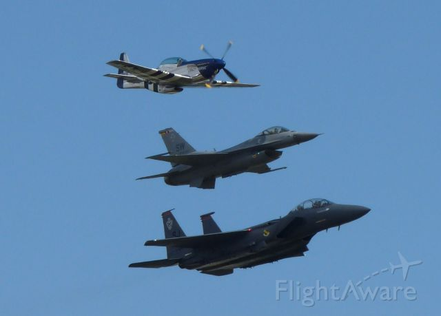 North American P-51 Mustang (41-3806) - Heritage Flight with F-15 & F-16