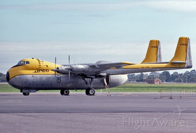 VH-IPA — - IPEC AIR FREIGHTER - AW-650-222 ARGOSY - REG : VH-IPA (CN 6803) - ADELAIDE INTERNATIONAL AIRPORT SA. AUSTRALIA - YPAD 6/7/1988
