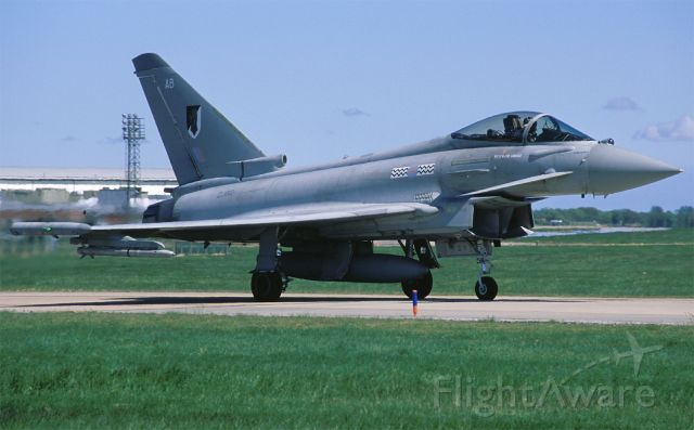 ZJ912 — - 17 sqn is the RAF Typhoon test & trial unit and here is Typhoon FGR.4 ZJ912, tailcoded AB, to be seen on the taxitrack of its
