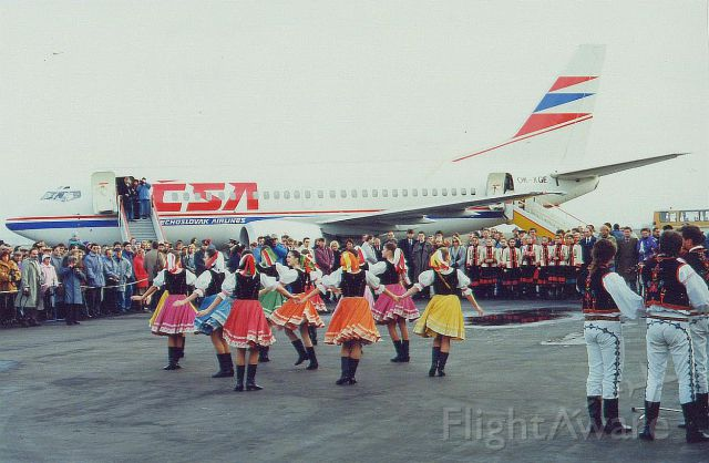 OK-XGE — - B737-500 OK-XGE naming ceremony (to be named after the Slovak coty of Kosice