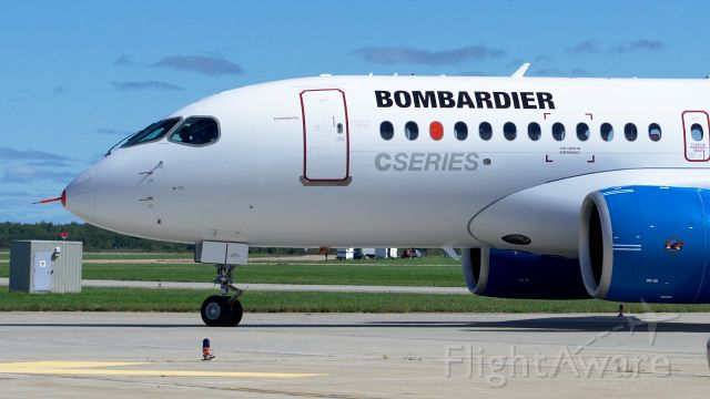 Bombardier CS100 (C-FBCS) - Bombardier CS100 arrival First Flight