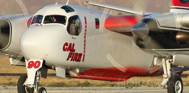 N434DF — - Tanker 90 Out of Ukiah Air attack base,  down at Hemet for a large wildfire near chino ca