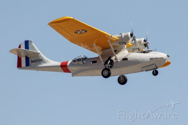 Canadair CL-1 Catalina (N427CV) - The 1944 Canadian Vickers PBY5A departing runway 17L.