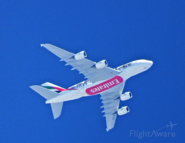 Airbus A380-800 — - This aircraft has been flying across the US for several weeks and once again flew over Carson City on its way to LAX