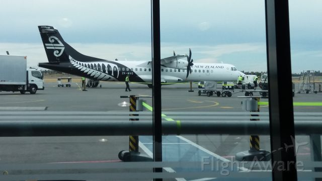 Aerospatiale ATR-72-600 (ZK-MVO) - At chch waiting for flight when she came in.