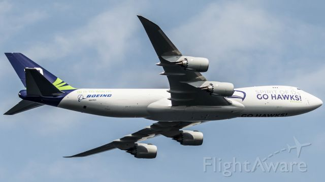 BOEING 747-8 (N841BA) - Taken During Seafair 2015