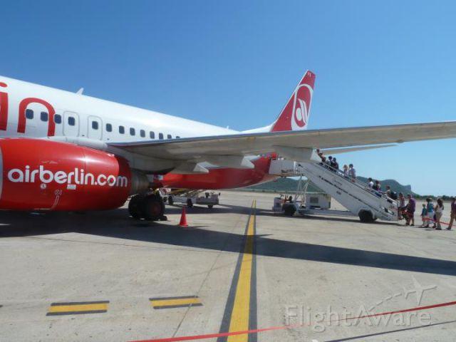 — — - Boarding at Ibiza bound for Frankfurt.