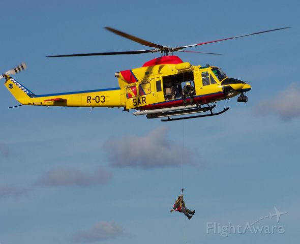 R03 — - SAR (Search And Rescue) Agusta Bell 412 SP at Dutch air base Volkel. Demo at Luchtmachtdagen, September 2011.