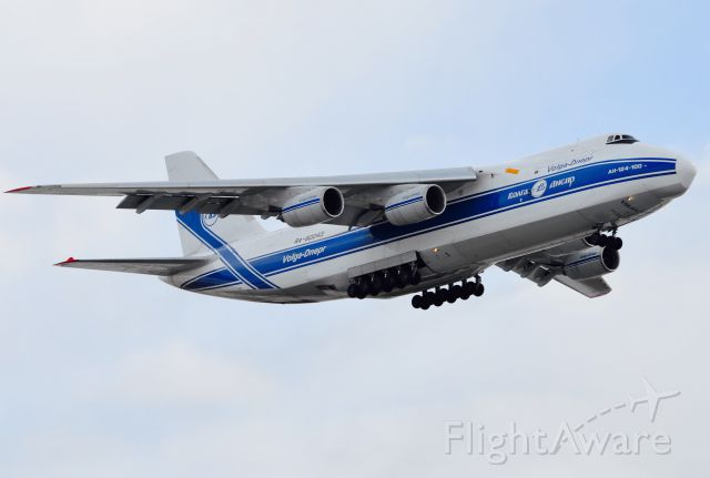 Antonov An-124 Ruslan (RA-82043) - Departing Gander Airport enroute to Reykyavik, Iceland.