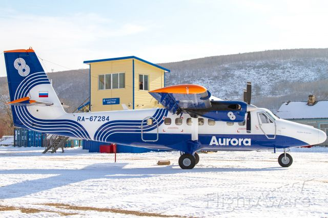 De Havilland Canada Twin Otter (RA-67284) - The village of Svetlaya, a northern village in the Primorsky Territory, with a population of less than a thousand people, is engaged in woodworking.