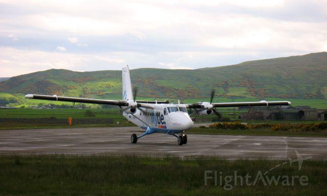 De Havilland Canada Twin Otter (G-BVVK) - Flybe De Havilland Canada DHC-6-300 Twin Otter G-BVVK landed in Campbeltow