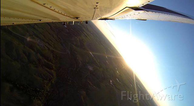 Beechcraft 35 Bonanza (N444TC) - V35B at sunset over Eastern Montana
