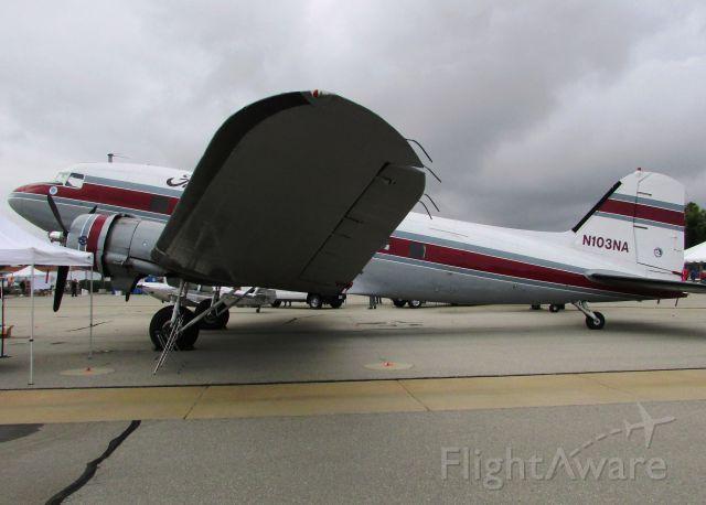 Douglas DC-3 (N103NA) - On display at Fullerton Airport day 5.9.15