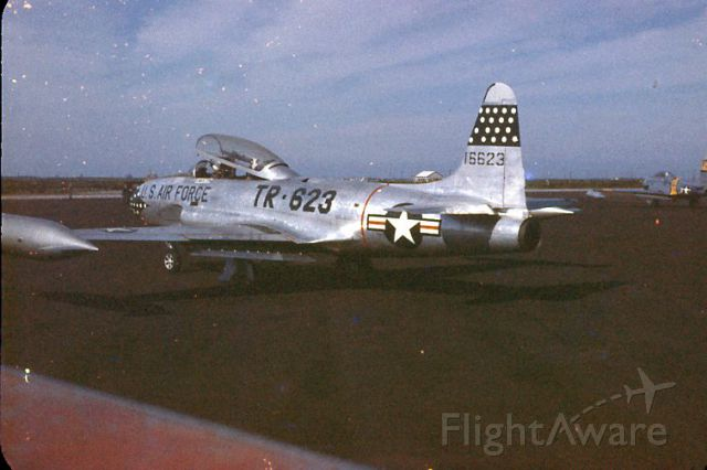 — — - 45th Tac Recon Sqdn T-33A taxi for departure, 1956.