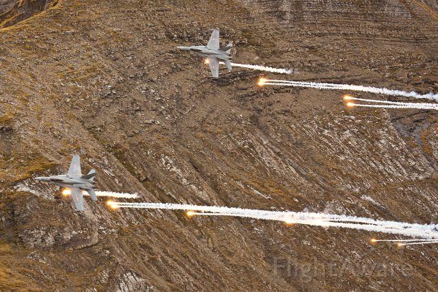 McDonnell Douglas FA-18 Hornet (J5026) - Swiss Air Force<br />F/A-18C Hornet J-5026 (Axalp Shooting Range)