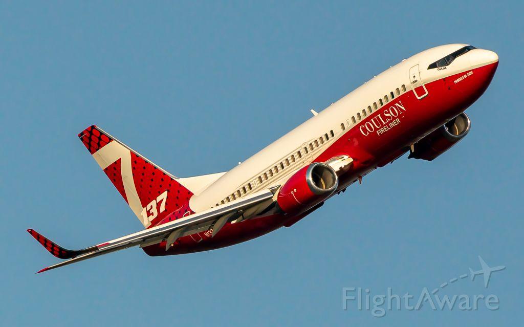 BOEING 737-300 (N137CG) - (July 2021) TNKR137 after finishing a drop outside Suncrest, WA