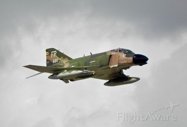 McDonnell Douglas F-4 Phantom 2 (NX749CF) - The only currently privately owned flying Phantom in the world screams over the 2017 Wings Over Houston crowd. Hearing those J79s howl was a true treat