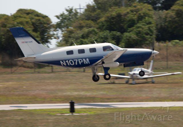 Piper Malibu Mirage (N107PM) - Beautiful aircraft! Take off RW28 at Block Island.