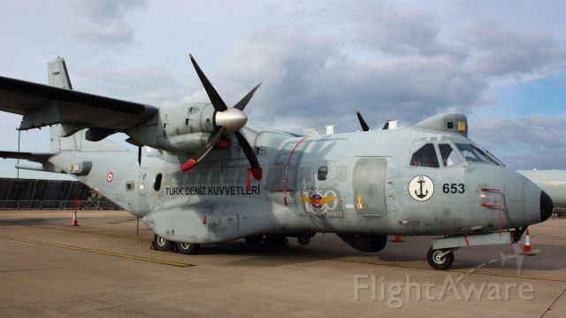 TCB653 — - Turkish navy CN-235M at Waddington Airshow 2014