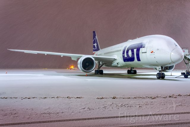 """Boeing 787-8 (SP-LRH) -  Boeing 787-8 Dreamliner SP-LRH LOT - Polish Airlines """"Proud to fly the Polish Olympic Team"""""""