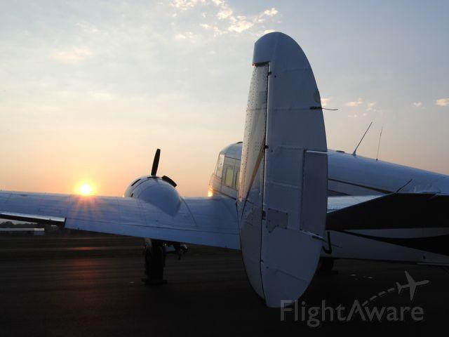 Beechcraft 18 (N6GJ) - Sunrise over the Beech!
