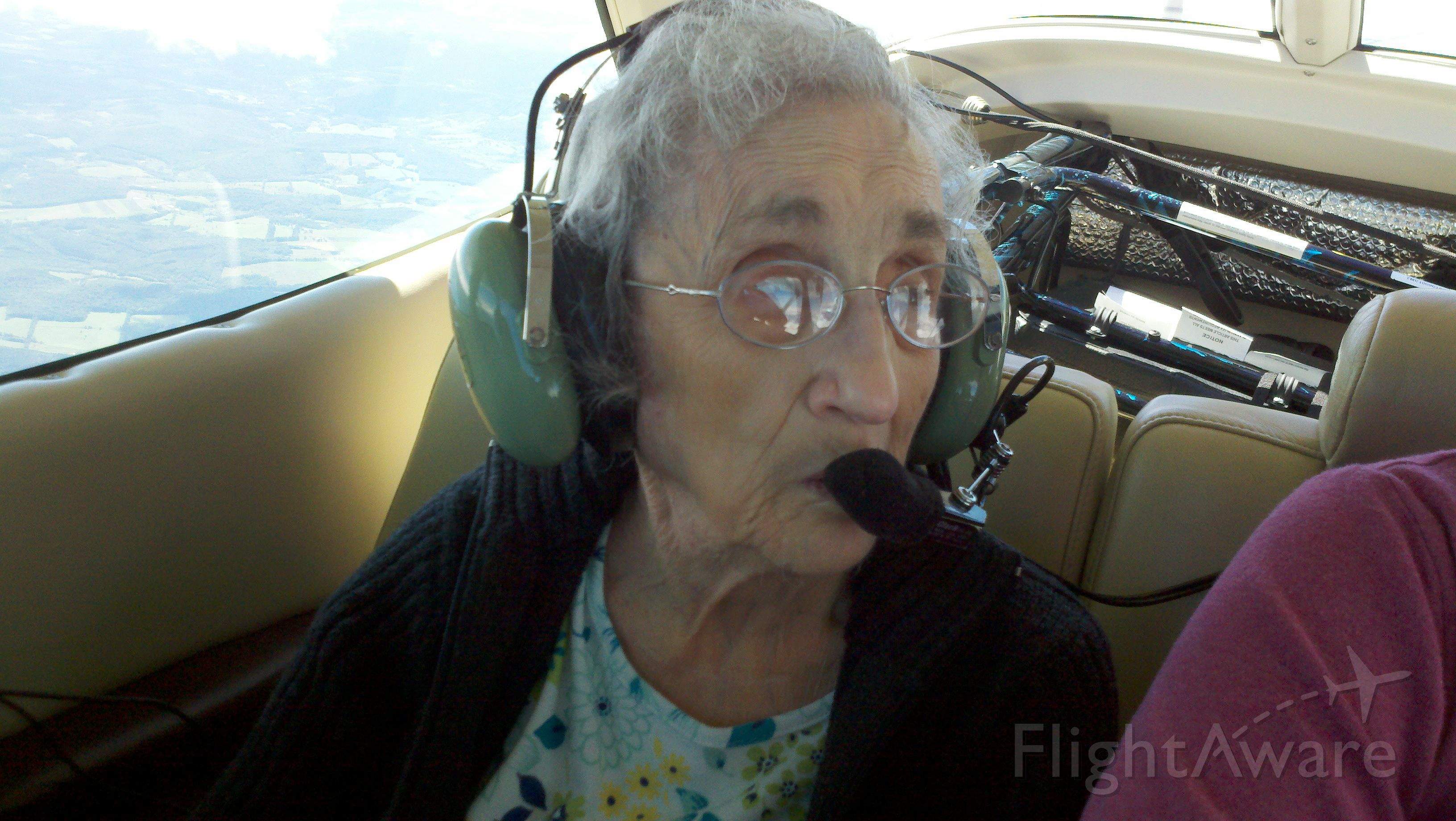 Cessna Cutlass RG (NGF30B) - 94 year old Angel Flight passenger Eleanor on route from Cortland, NY to Portland, ME. A delightful young lady!