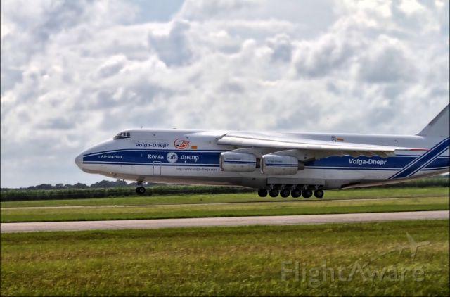 Antonov An-12 — - Landing at KARA.  New Iberia, LA.