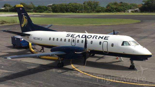 Saab 340 (N334CJ) - Prior to departure to SJU. Taken from Terminal Building.