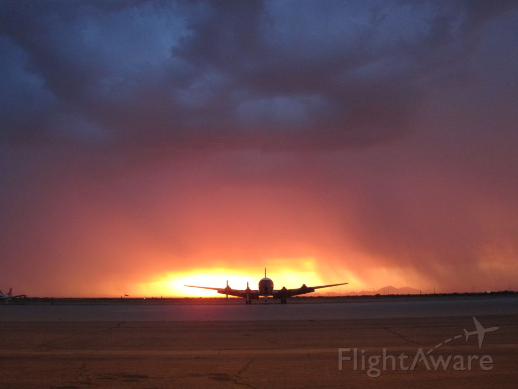 N4887C — - Beauty in the midst of a storm while grounded at Coolidge, AZ