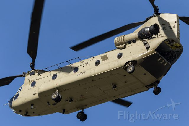 ASAP Chinook (A15304) - Chinook, A15304, now flying with sand filter on the front intake and heat suppression package on exhaust.
