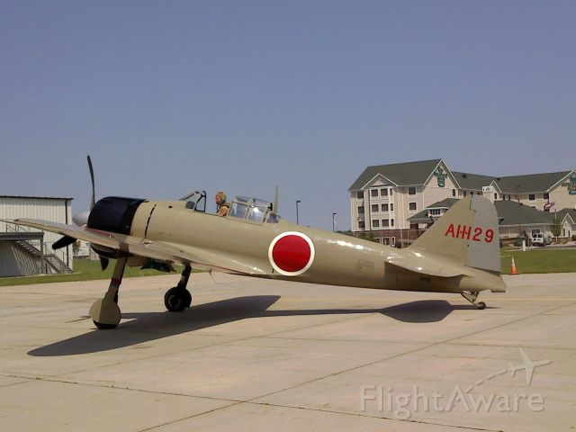 Learjet 31 (N8280) - This is a Mitsubishi A6M2 Zero, which was on display at the Fargo Air Museum until 2010, and it now flies with the Texas Flying Legends.