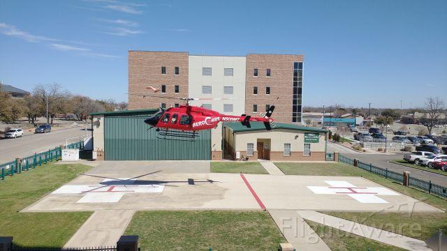 Bell 407 (N505MT) - N505MT Landing at Shannon Main in San Angelo Texas.
