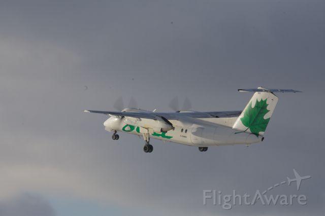 de Havilland Dash 8-100 (C-GANS) - Dash 8 of Jazz Air departs into the late afternoon sun off Runway 25 in Kingston