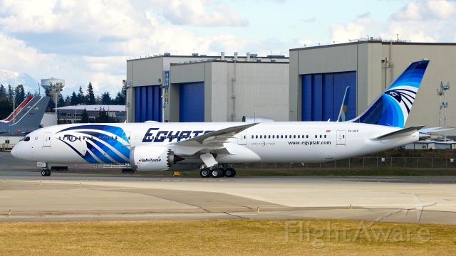 Boeing 787-9 Dreamliner (SU-GER) - BOE195 taxis to the Boeing North ramp on completion of a B1 flight on 3.13.19. (ln 823 / cn 38798). This is the first Dreamliner for Egypt Air.